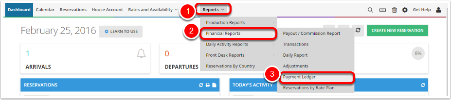 Step 2: Access Reports Tab