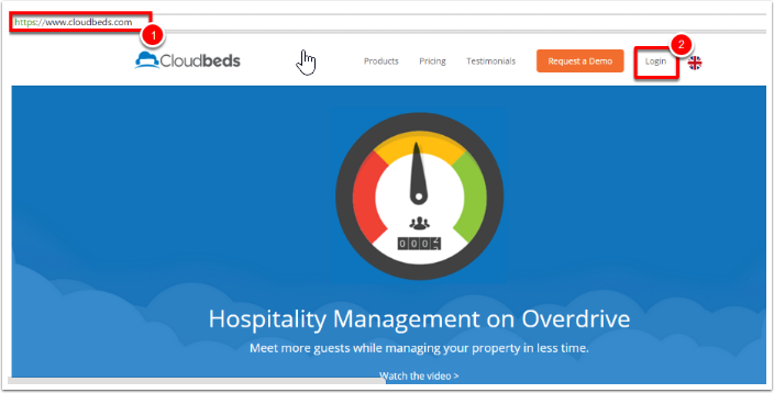 1. Accesa a tu cuenta de myfrontdesk desde nuestro página web