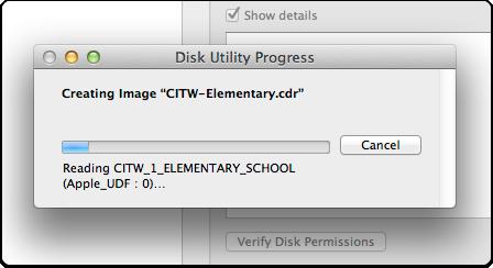 8. Disk Utility Progress