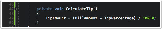 Add a Method to Calculate the Tip to the TipCalculatorPageViewModel