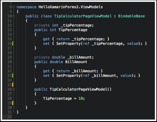 Add Properties to ViewModel
