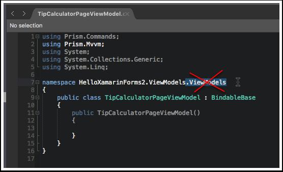 Fix ViewModel Namespace