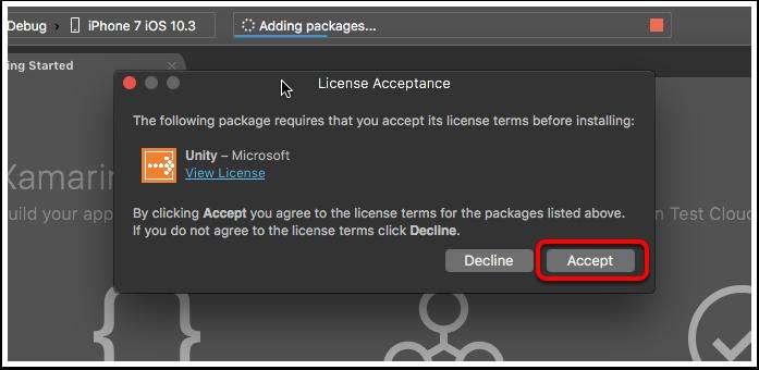 License Acceptance