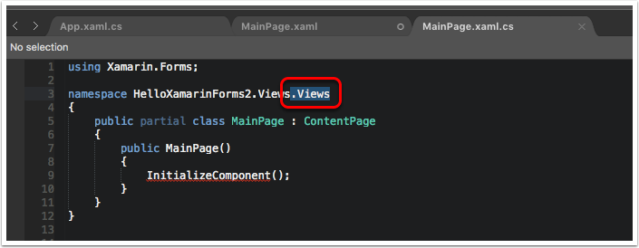 """Remove the Extra """".Views"""" from the Code-Behind"""