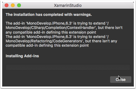 XamarinStudio Warnings