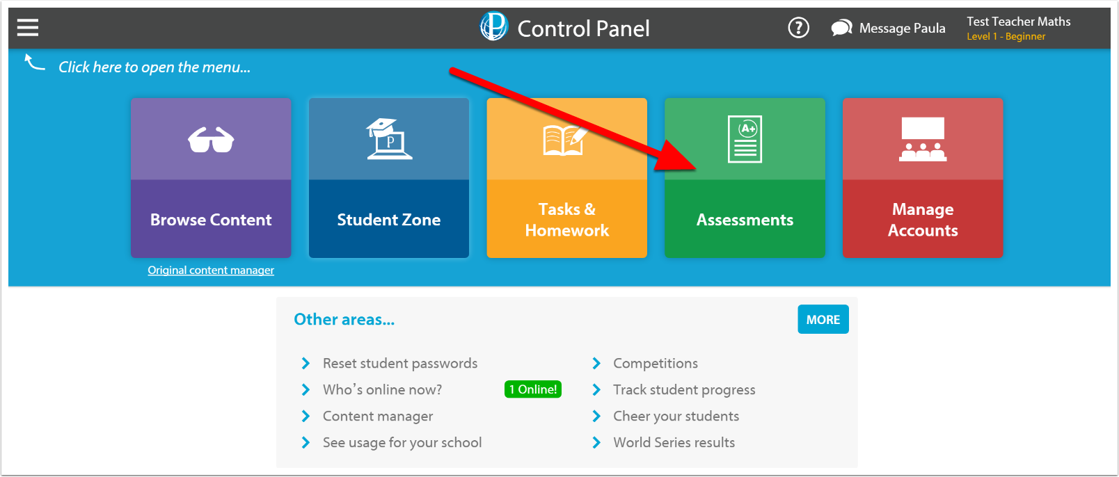 Go to www.educationperfect.com/controlpanel and login.