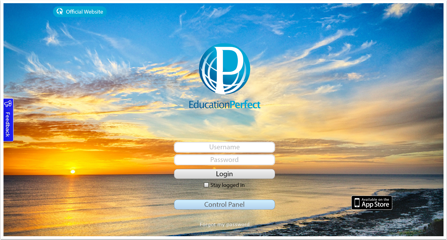 To get started, you'll need to login to www.educationperfect.com and click 'Login'.