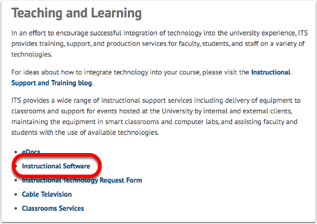 On the Teaching and Learning webpage -