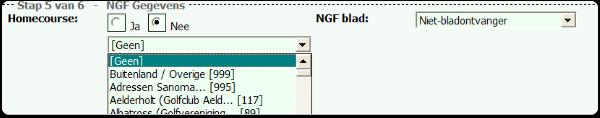 Stap 5 NGF gegevens