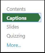 "2. Select ""Captions""."