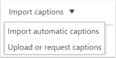 """4. Select """"Import Automatic Captions""""."""