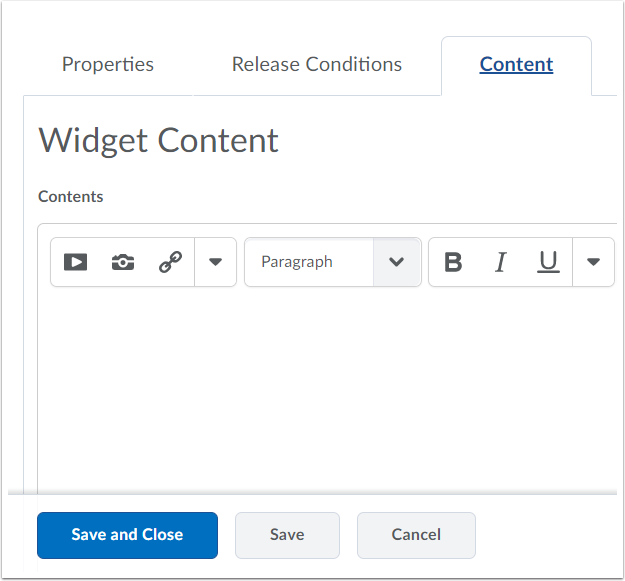 "4. Click ""Content"" and fill out information."
