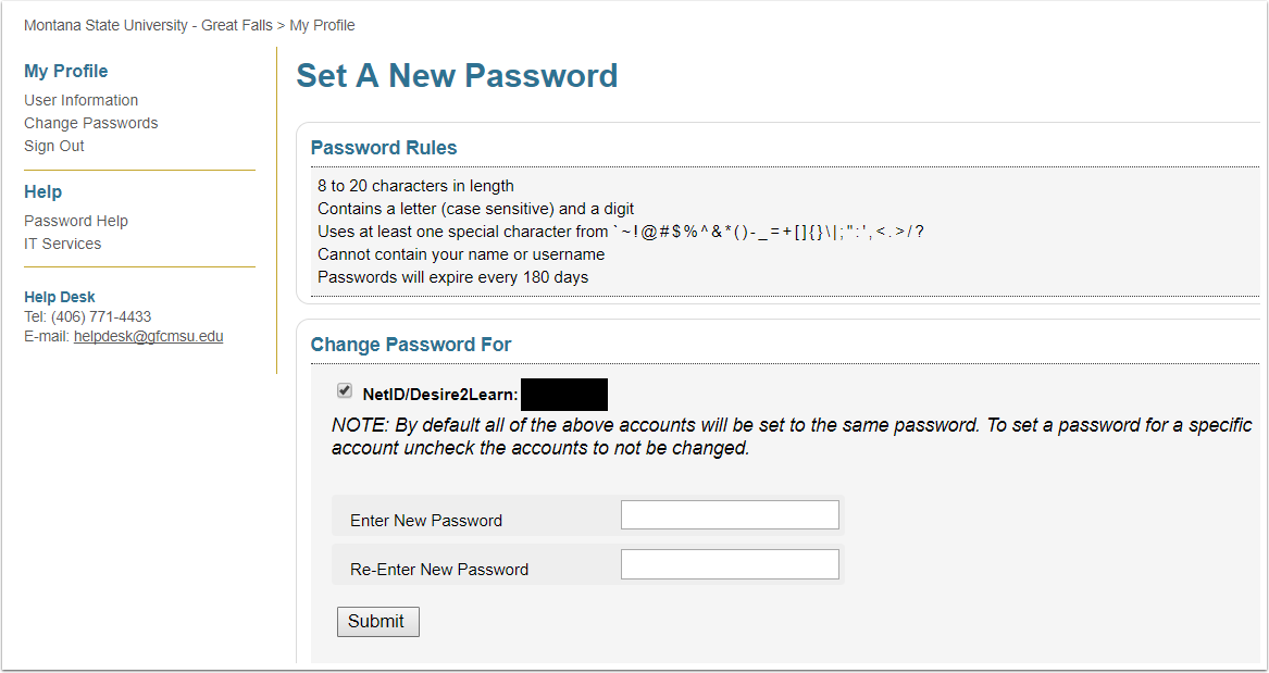 2. Change your password.