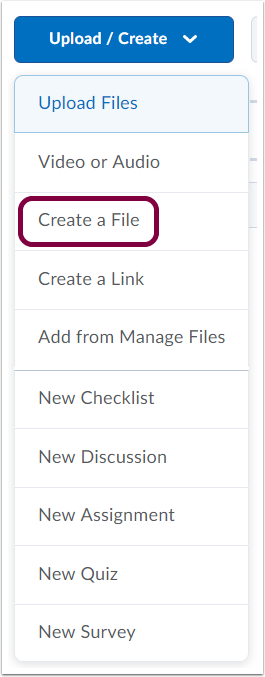 "3. Click ""Create a File""."