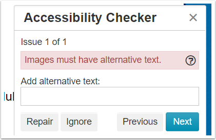 3. Fix the issues that pop-up after the check.