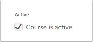"3. Click ""Course is Active"" checkbox."