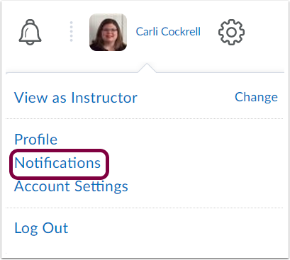 "1. Click your ""Personal Menu"" and select ""Notifications""."
