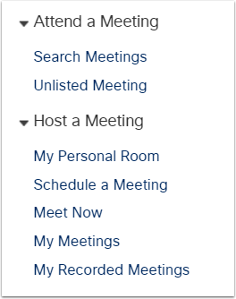 1. Access WebEx to Schedule a Meeting.