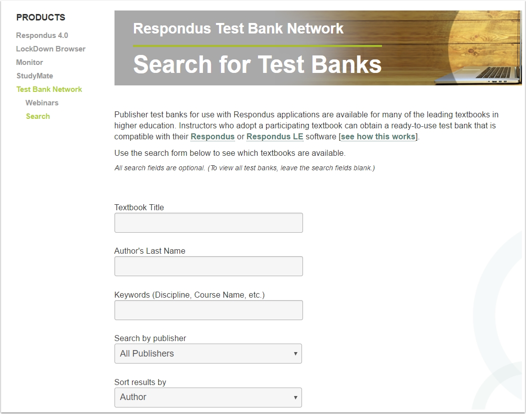2. Test Bank Network