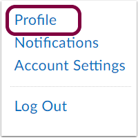 "2. Select ""Profile""."
