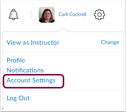 "1. Click your ""Personal Menu"" and select ""Account Settings""."