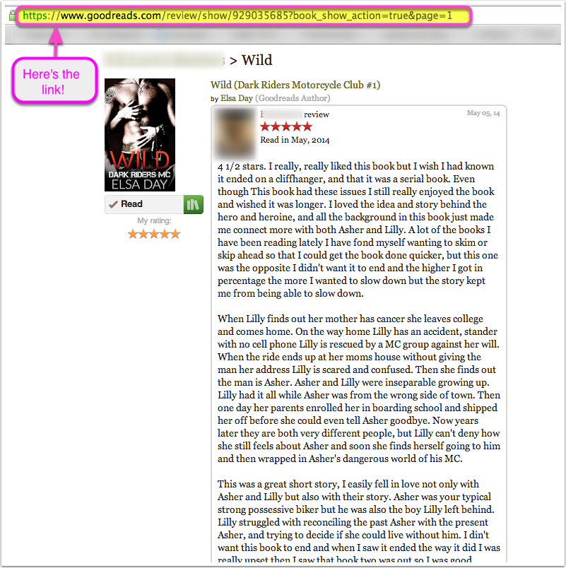 Step 4: Copy the link in the browser bar. That is the direct link to your review!