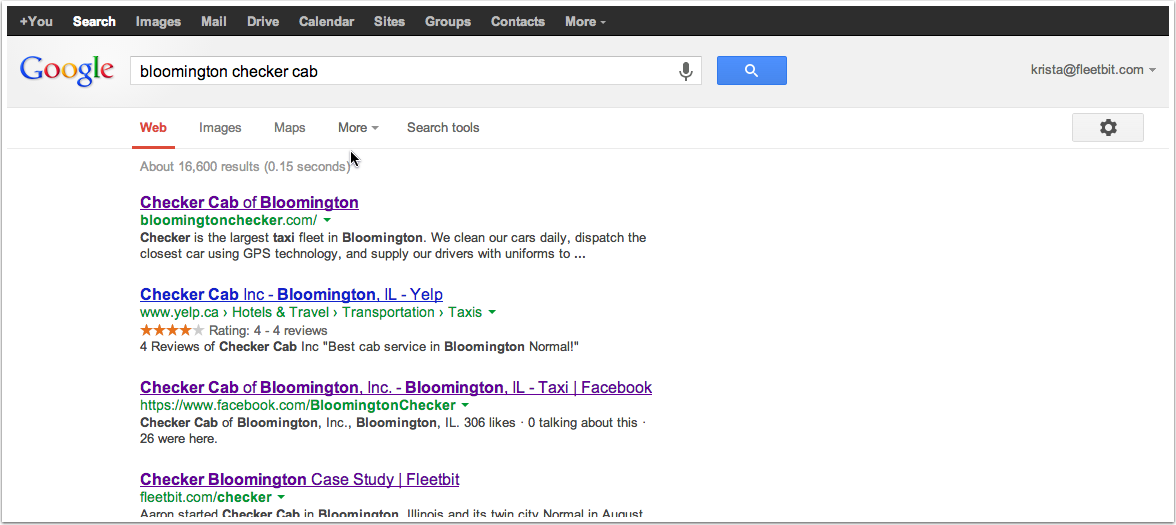 And other search results show much less information...