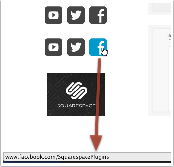 How to Direct a Squarespace 6 Social Link to your Facebook Fan Page photo
