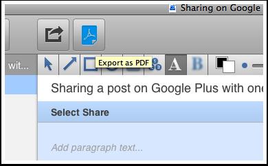 Share as a PDF