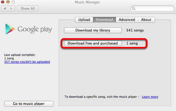 Google Play Music Manager - MAC version
