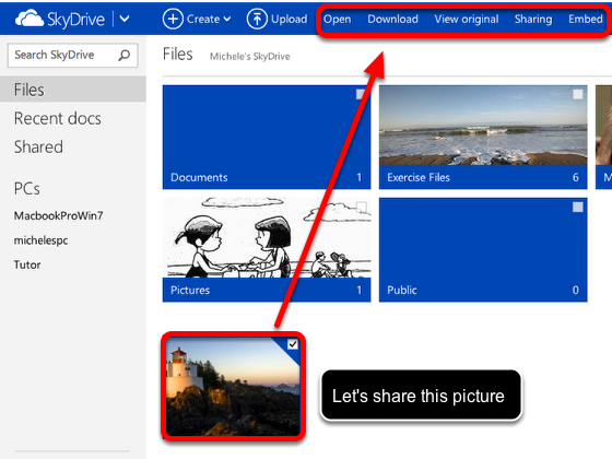 Select a file  to share