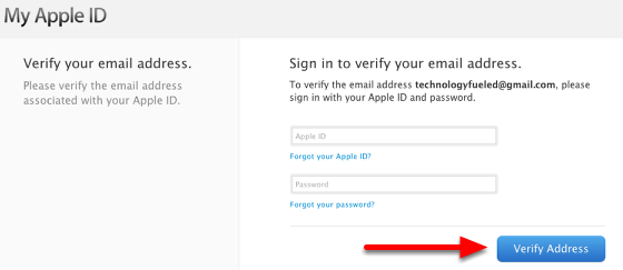 Sign in to verify your email address