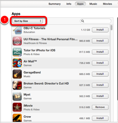 Managing your Apps using iTunes 11