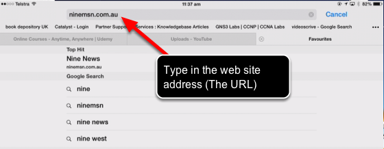 Type the website directly into the Address Bar