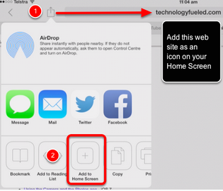 How to add  a web clip icon to your Home Screen