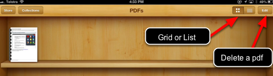 Open a pdf in iBooks