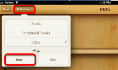 Managing your iLibrary in iBooks