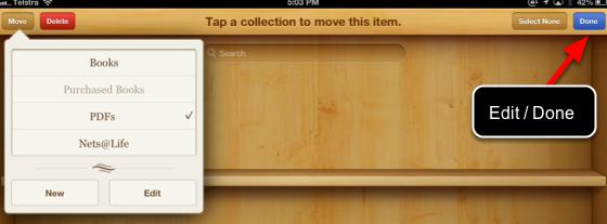 Move a pdf into a folder