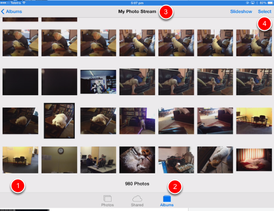 How to delete photos from Photostream