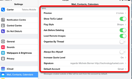 Mail on the iPad — iPad Learning