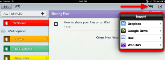Import a document or pdf into Notability to edit and annotate