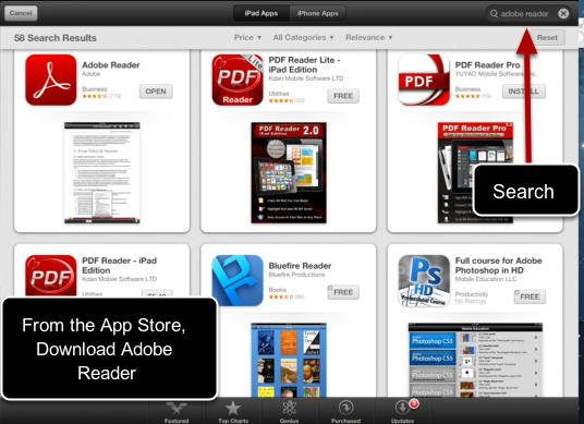 Download the app, Adobe Reader