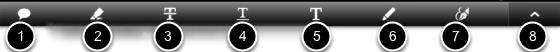 The Editing Toolbar