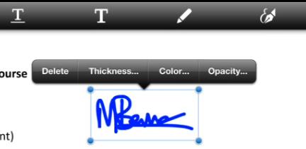Edit the signature