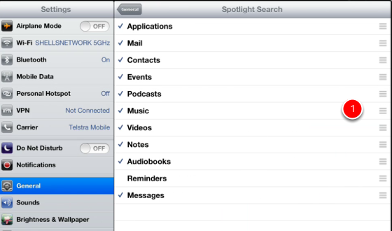Setting Spotlight search criteria