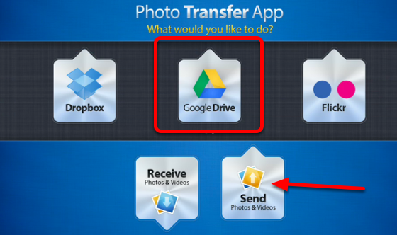 Upload Photos from the iPad to Google Drive