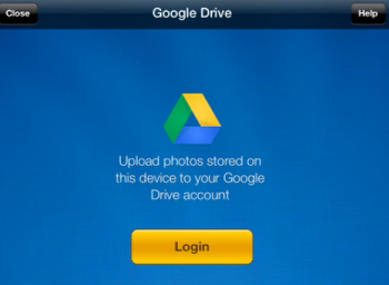 Login to your Google Drive account