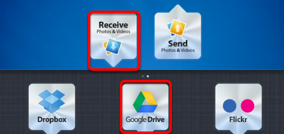 Download photos from Google Drive to the iPad