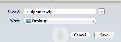 Select the location of the Zip file