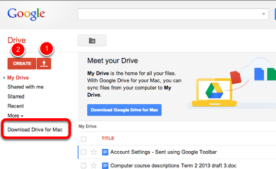Access your Google Drive online